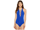 JETS by Jessika Allen - Jetset High Neck Plunge Lace-Up Front One-Piece