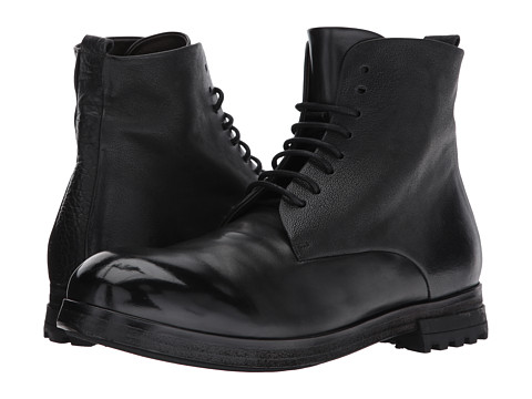 Marsell Multi Leather Lace-Up Boot - Black