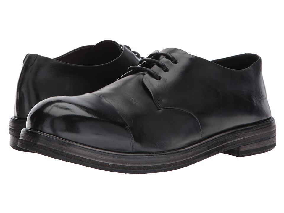 Marsell - Captoe Oxford (Black) Mens Lace Up Cap Toe Shoes