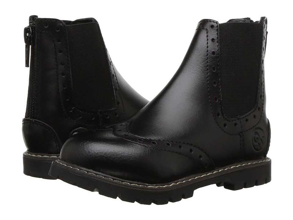 Old West English Kids Boots - Bloom (Toddler/Little Kid) (Black) Cowboy Boots