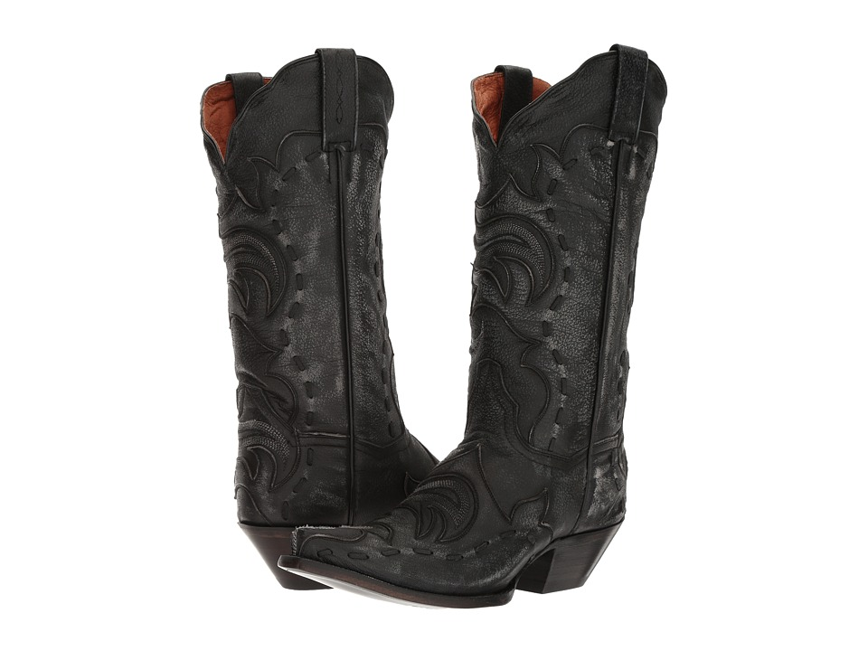 Dan Post Everlee (Black/Grey) Cowboy Boots