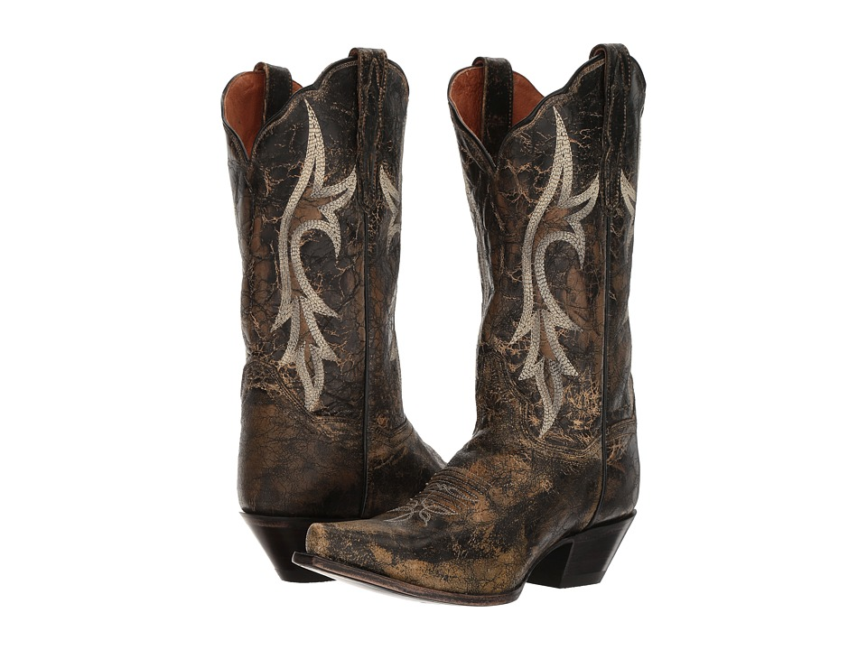 Dan Post Knockout (Black Distressed) Cowboy Boots
