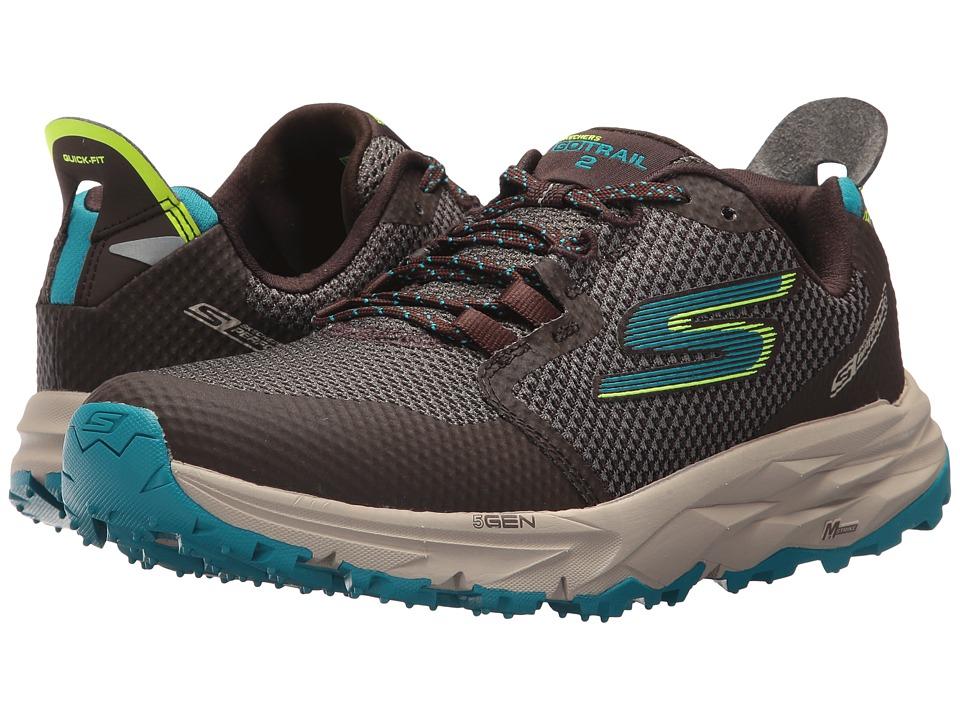 SKECHERS Go Trail 2 (Chocolate/Blue) Women