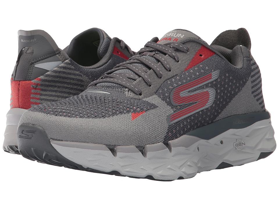 SKECHERS Go Run Ultra R (Charcoal/Red) Men