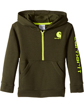 Carhartt Kids - Logo Fleece 1/2 Zip Sweatshirt (Toddler)