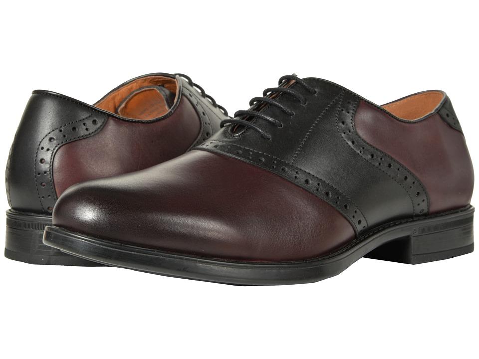 1950s Mens Shoes: Saddle Shoes, Boots, Greaser, Rockabilly Florsheim Midtown Saddle Oxford BurgundyBlack Mens Lace Up Wing Tip Shoes $109.95 AT vintagedancer.com