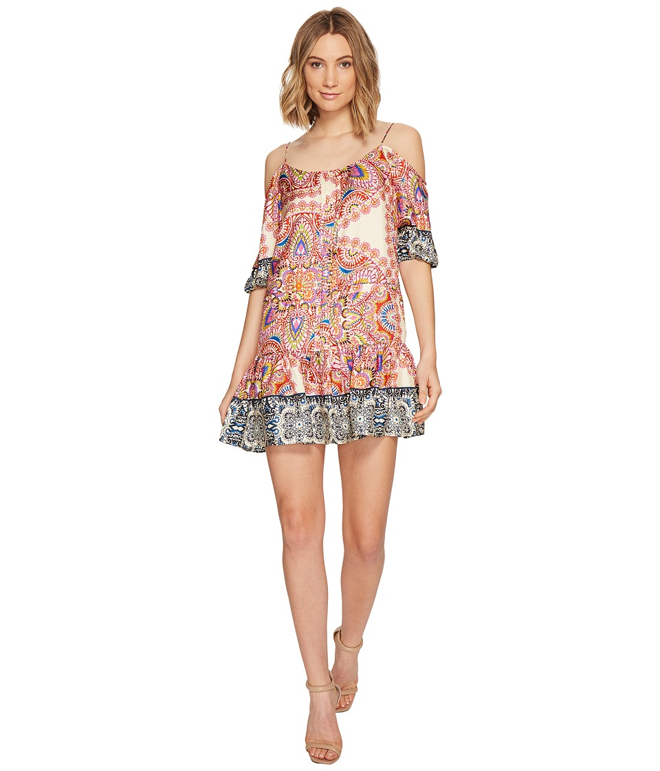 Nicole Miller La Plage by Nicole Miller Mandala Paradise Cold Shoulder Dress (Multi) Women