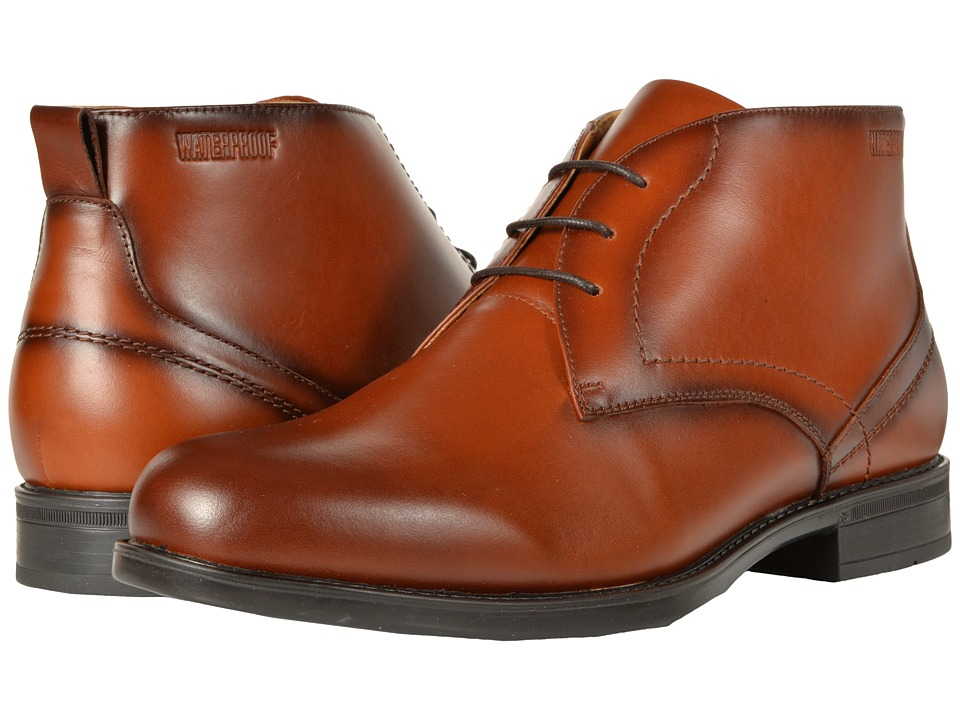 Florsheim Midtown Waterproof Chukka Boot (Cognac Smooth) Men