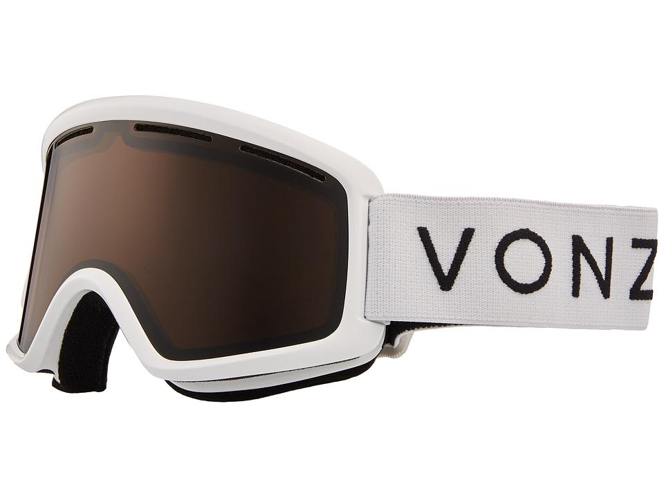 VonZipper Beefy Goggle (White Gloss/Bronze) Goggles