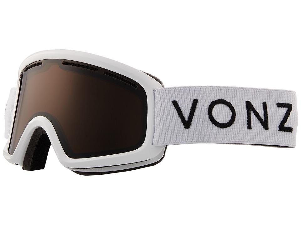 VonZipper Trike Goggle (White Gloss/Bronze) Goggles