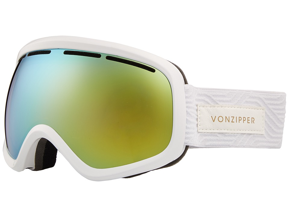 VonZipper Skylab Goggle (White Satin/Gold Chrome) Snow Goggles