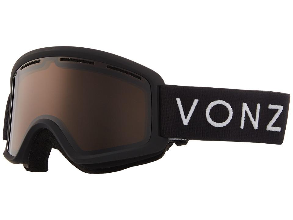 VonZipper Beefy Goggle (Black Satin/Bronze) Goggles