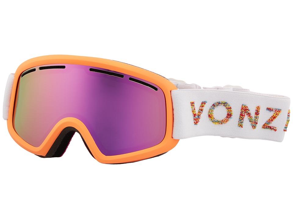 VonZipper Trike Goggle (Coral Satin/Smoke Pink Chrome) Goggles