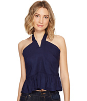 Nicole Miller - Stretch Linen Halter Top