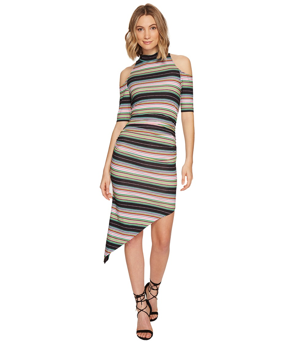 Nicole Miller KP Festival Stripe Cold Shoulder Dress (Multi) Women