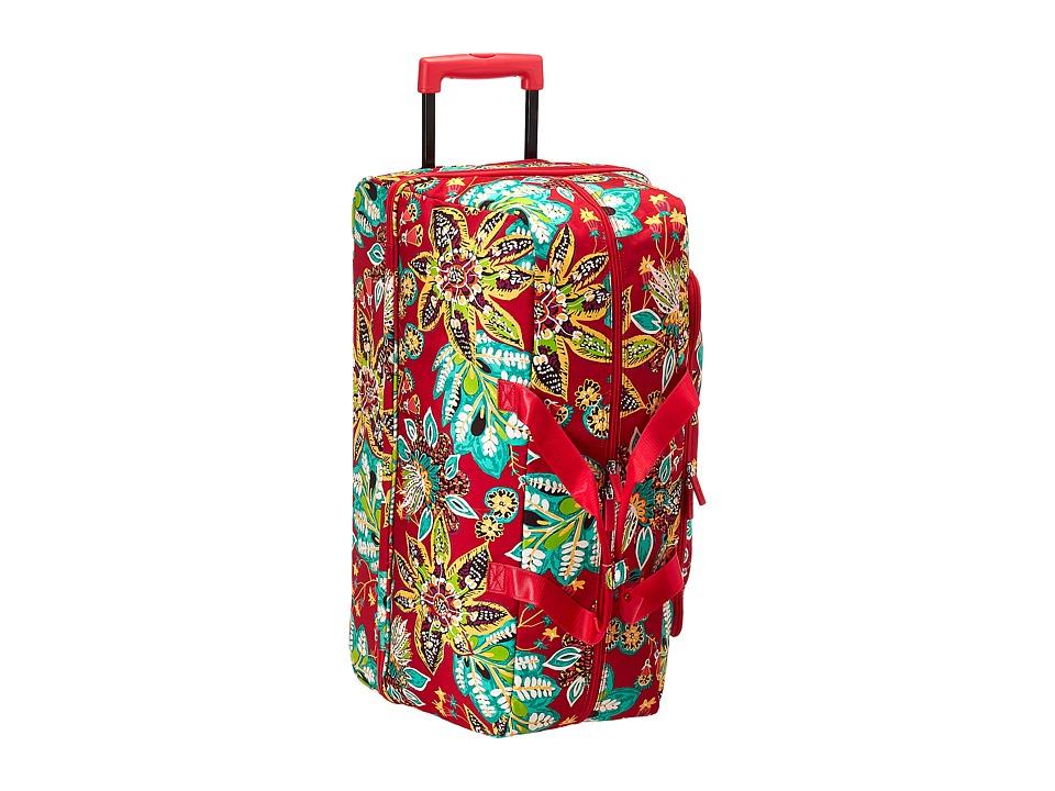 Vera Bradley Luggage - Lighten Up Large Wheeled Duffel (R...