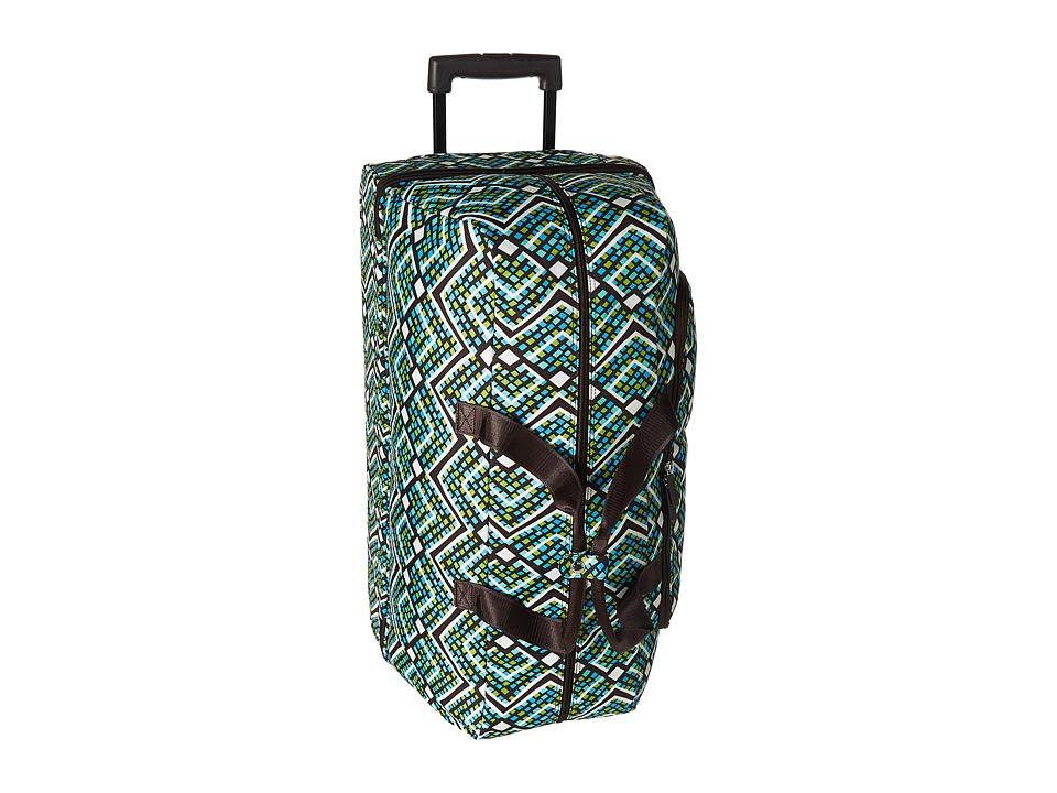 Vera Bradley Luggage Lighten Up Large Wheeled Duffel (Rain Forest) Duffel Bags