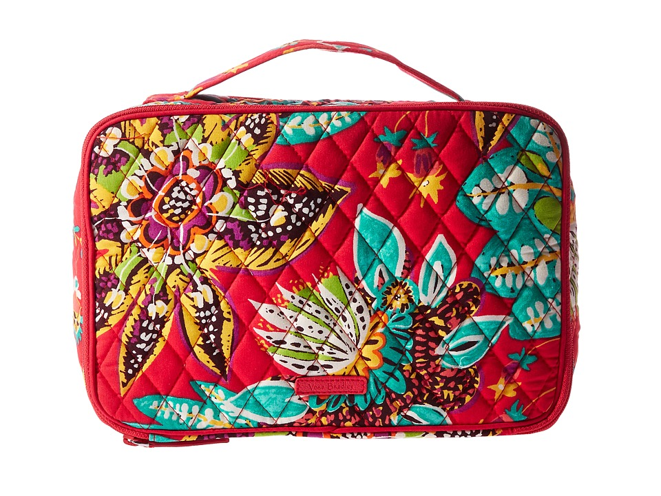 Vera Bradley Luggage Large Blush Brush Makeup Case (Rumba) Cosmetic Case