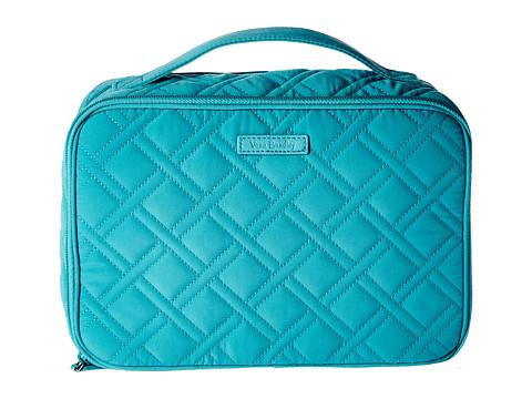Vera Bradley Luggage Large Blush & Brush Makeup Case - Turquoise Sea