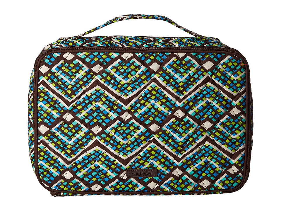 Vera Bradley Luggage Large Blush Brush Makeup Case (Rain Forest) Cosmetic Case