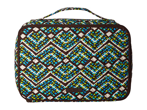 Vera Bradley Luggage Large Blush & Brush Makeup Case - Rain Forest