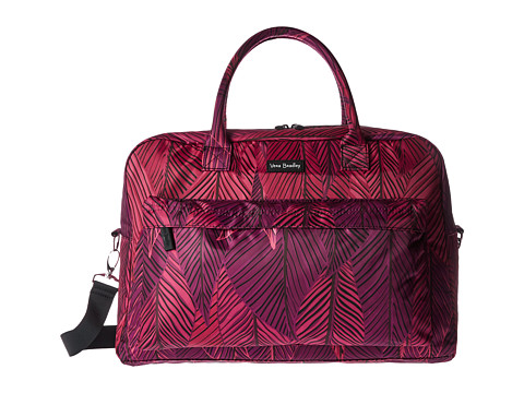 Vera Bradley Luggage Perfect Companion Travel Bag - Banana Leaves Fuchsia