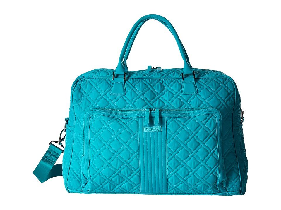 Vera Bradley Luggage Weekender (Turquoise Sea) Duffel Bags