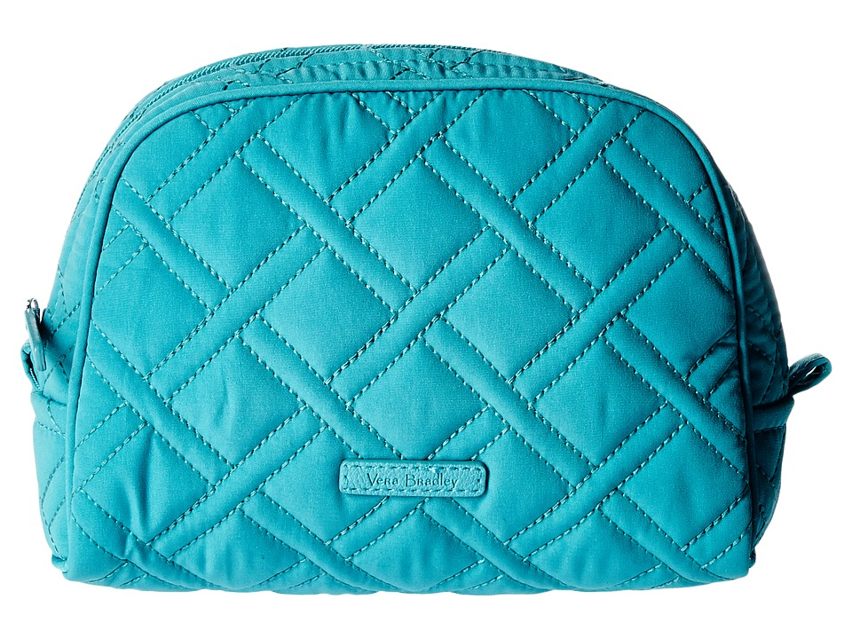 Vera Bradley Luggage Medium Zip Cosmetic (Turquoise Sea) Cosmetic Case