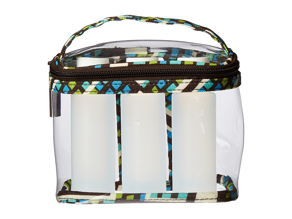 Vera Bradley Luggage Lighten Up 3-1-1 Cosmetic (Rain Forest) Cosmetic Case