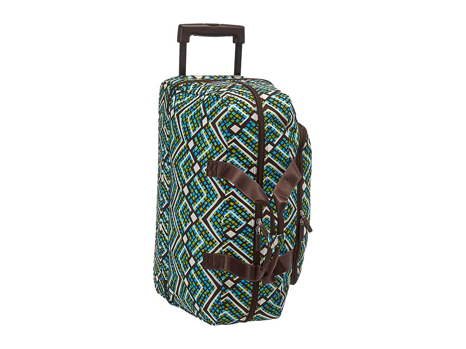 Vera Bradley Luggage Lighten Up Wheeled Carry On (Rain Forest) Carry on Luggage