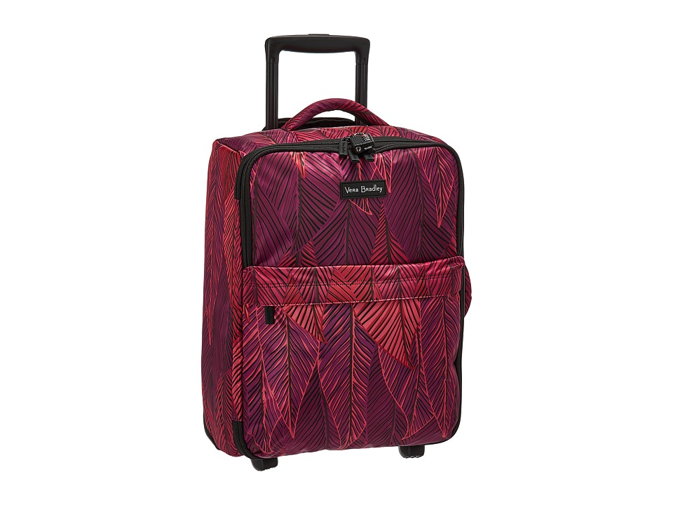 Vera Bradley Luggage Small Foldable Roller (Banana Leaves Fuchsia) Carry on Luggage