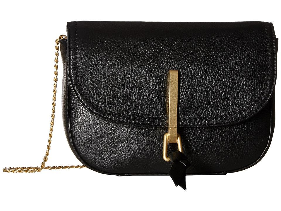Vera Bradley - Carson Mini Saddle Bag (Black) Bags