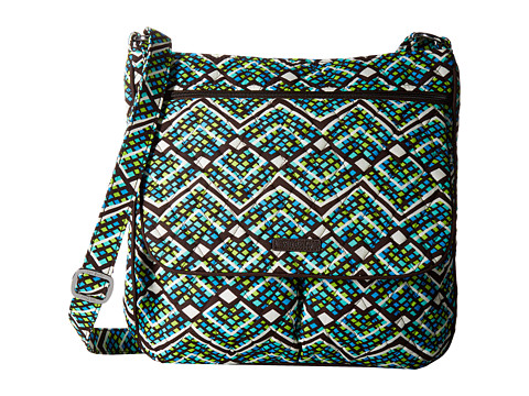 Vera Bradley Double Zip Mailbag - Rain Forest