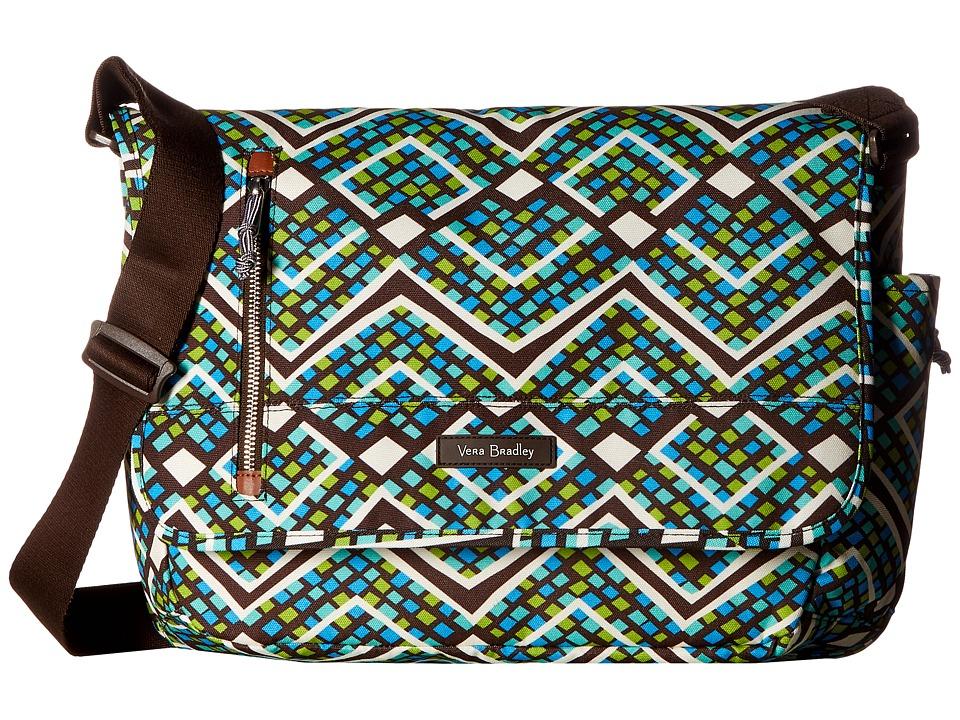 Vera Bradley Laptop Messenger (Rain Forest) Messenger Bags