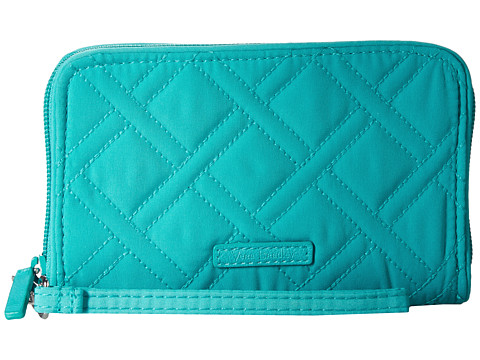 Vera Bradley RFID Grab & Go Wristlet - Turquoise Sea