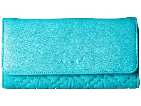 Vera Bradley RFID Audrey Wallet - Turquoise Sea