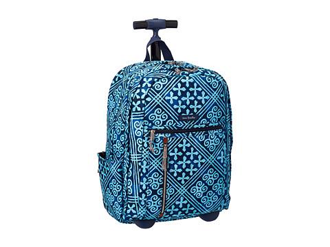 Vera Bradley Rolling Backpack - Cuban Tiles