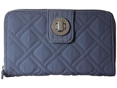 Vera Bradley Rfid Turnlock Wallet - Charcoal