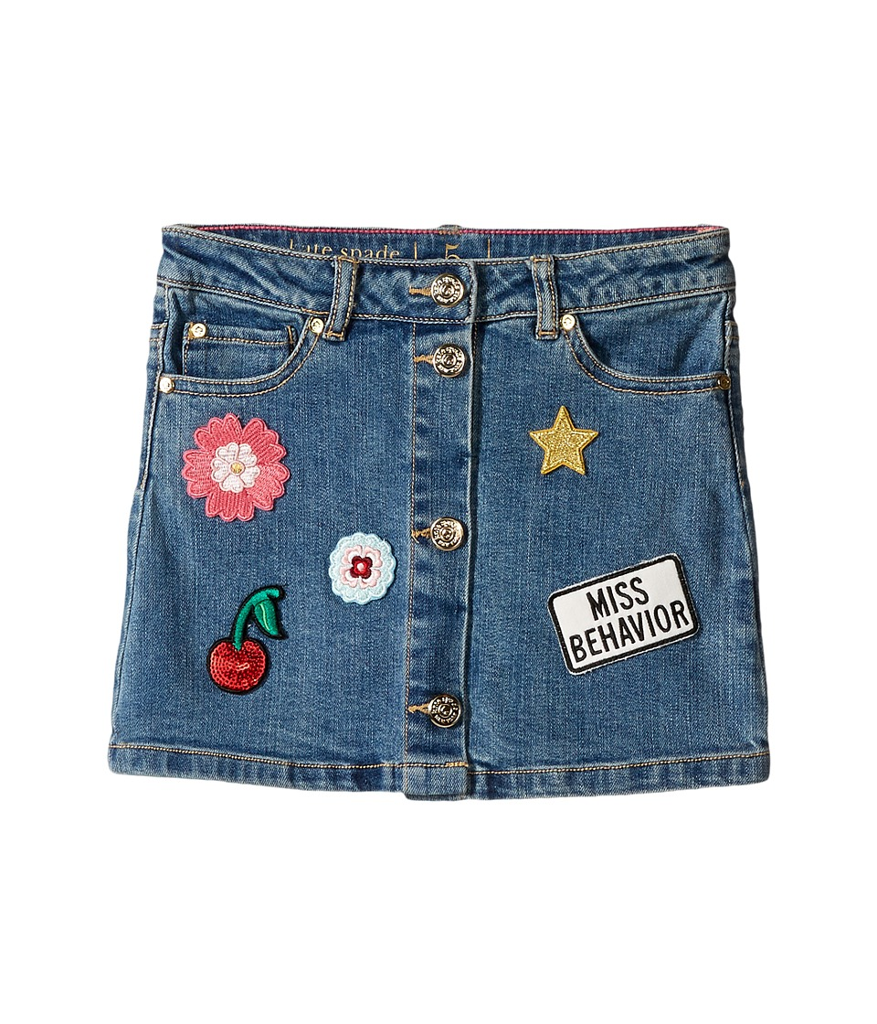 Kate Spade New York Kids - Patched Denim Skirt