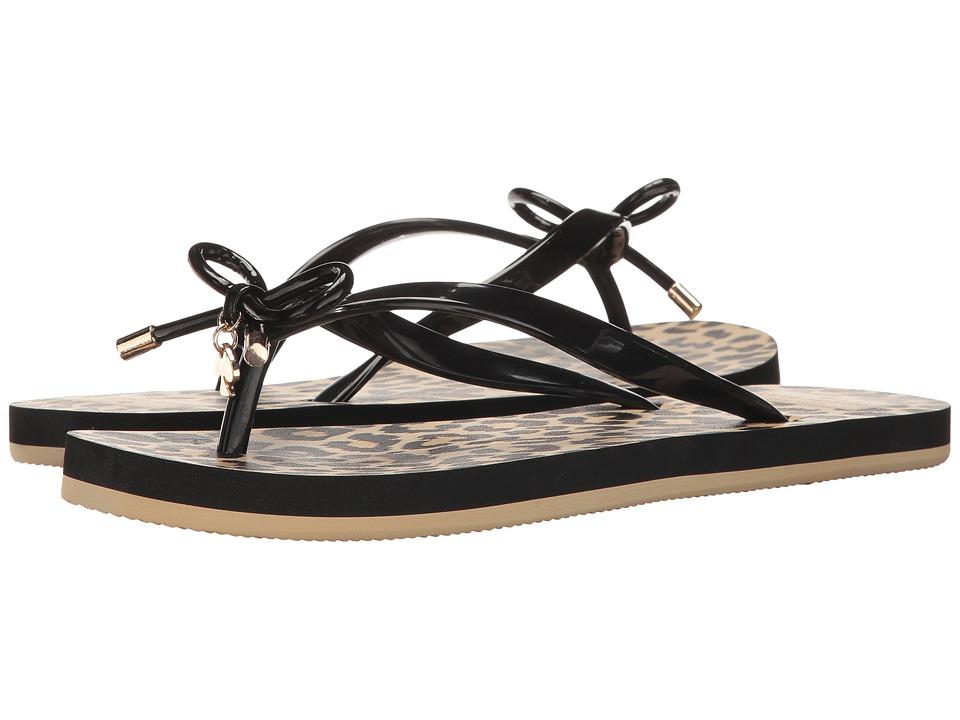 Kate Spade New York Nova (Black/Classic Leopard Print) Sandals