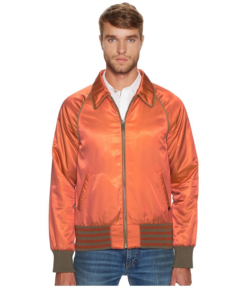 Marc Jacobs - Iridescent Twill Bomber Jacket (Acid Salmon) Men's Coat