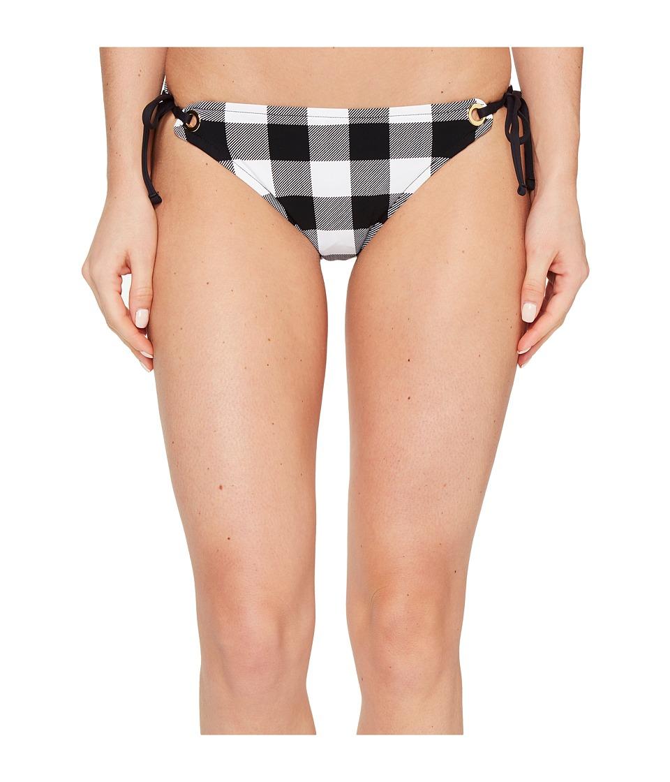 La Blanca Tres Chic California Cut Tie-Side Hipster (Black/White) Women