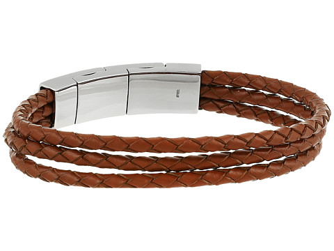 Fossil Multi-Strand Leather Bracelet - Silver Tone 1