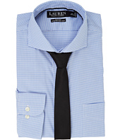 LAUREN Ralph Lauren - Stretch Slim Fit Pinpoint English Spread Collar with Pocket Dress Shirt