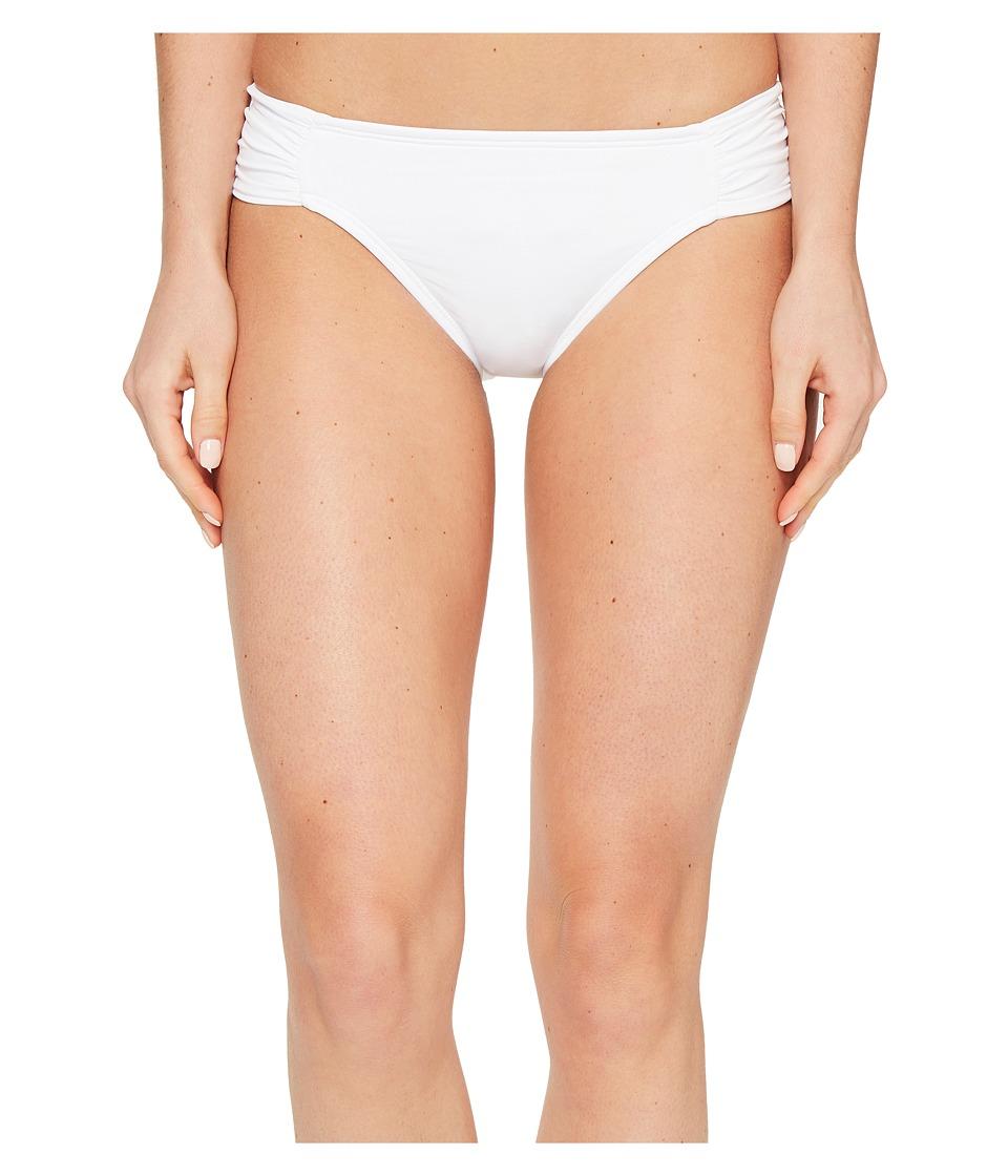 La Blanca Island Goddess Side Shirred Hipster Bottom (White) Women