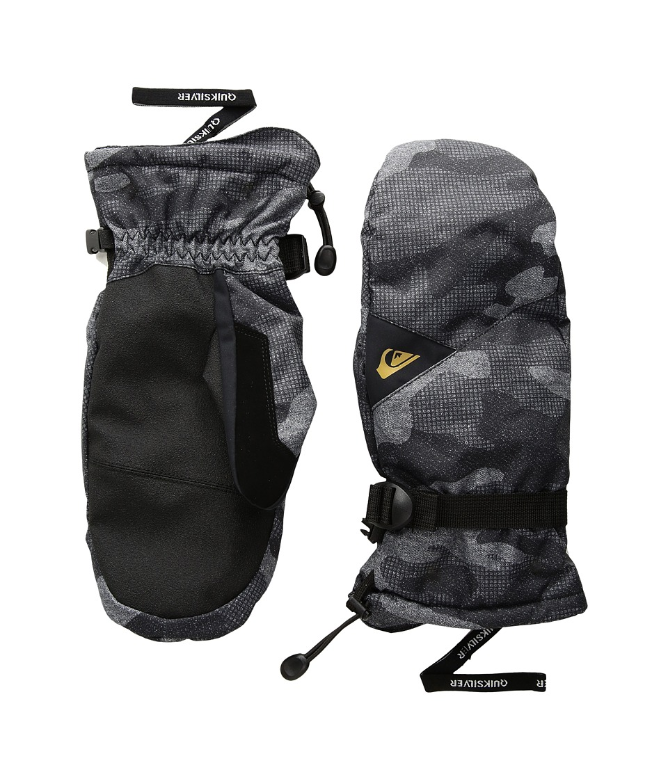 Quiksilver Mission Mitt (Black Grey Camokazi) Extreme Cold Weather Gloves