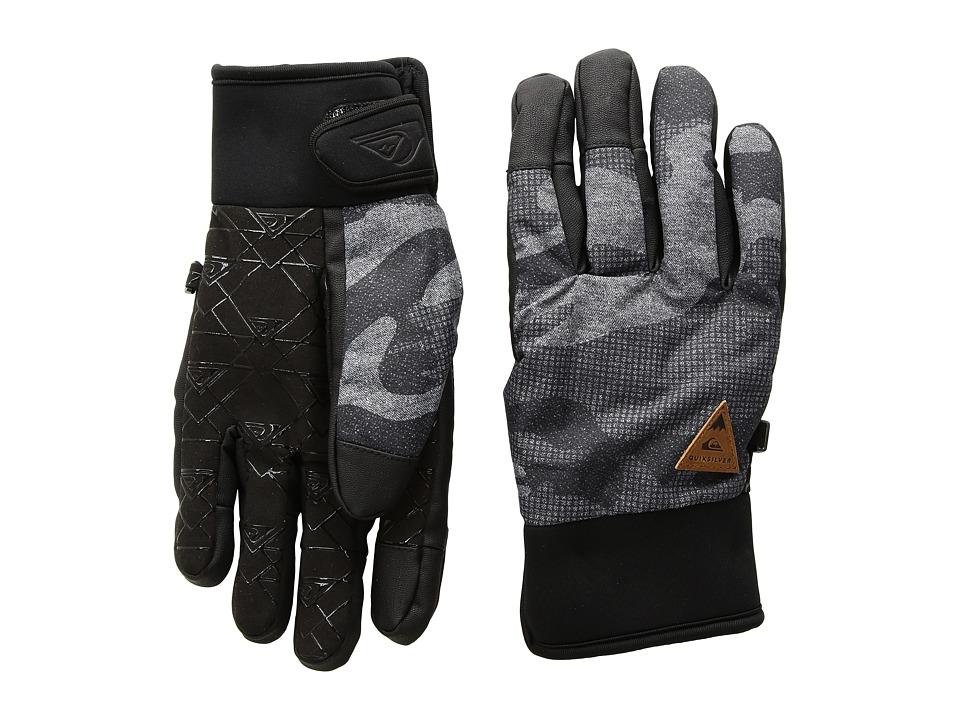 Quiksilver Method Gloves (Black Grey Camokazi) Extreme Cold Weather Gloves