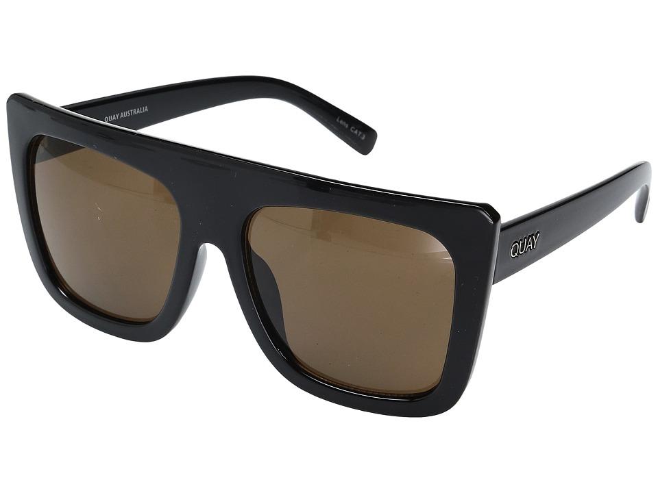 QUAY AUSTRALIA Cafe Racer (Black/Brown) Fashion Sunglasses