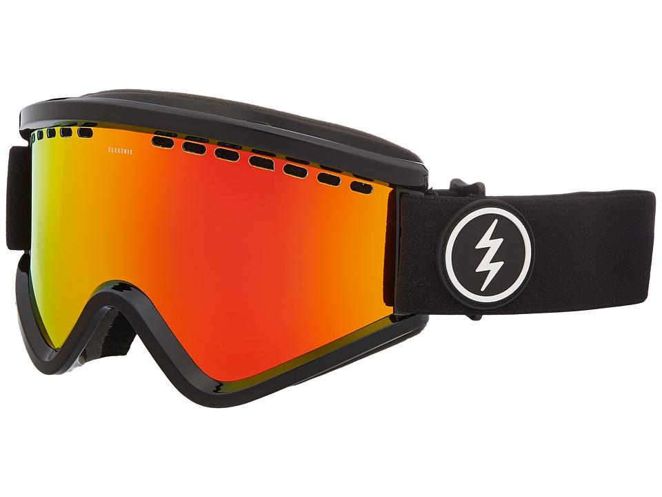 Electric Eyewear EGV (Gloss Black Frame/Brose Red Chrome Lens) Goggles
