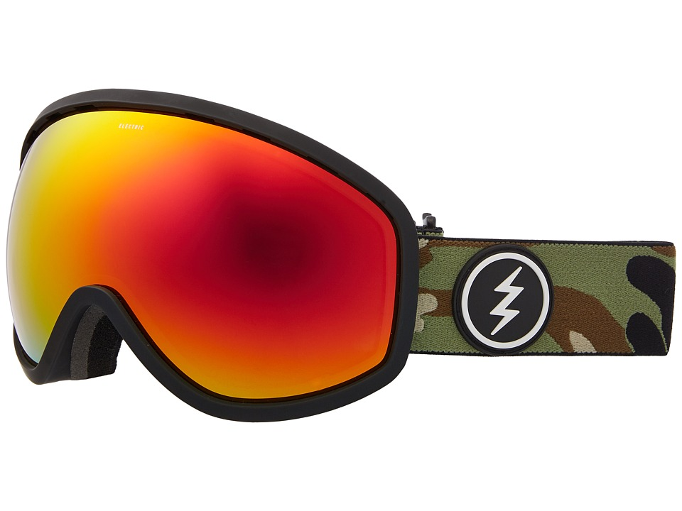 Electric Eyewear Masher (Camo/Brose Red Chrome Lens) Goggles